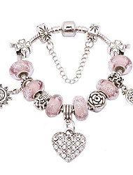 cheap -Women's Charm Bracelet Friendship Fashion Alloy Round Jewelry Anniversary Gift Valentine Costume Jewelry Purple Light Purple Pink
