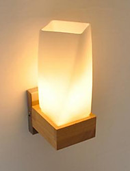 Simplicity Nordic Wood Art Living Room Corridor Balcony Glass Solid Wood Wall Lamp Of Bedroom The Head Of A Bed