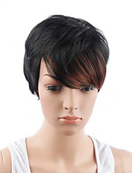 Short Wigs Layered Fluffy P1B/350# color 11inch 150g Synthetic Wig
