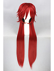 cheap -Synthetic Wig Straight Red Women's Capless Carnival Wig Halloween Wig Cosplay Wig Long Synthetic Hair