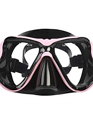 cheap -Swim Mask Goggle / Snorkel Mask Protective Two-Window - Diving, Swimming Silicone, Neoprene, Fibre Glass - for Adults Red / Blue / Pink