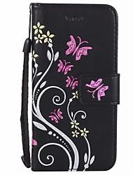 Недорогие -Для кошелька держателя карты с футляром для футляра полный цвет корпуса цвет цветок твердый кожа pu для iphone 7 plus 7 6s plus 6 6 plus