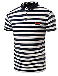 cheap -Men's Cotton Polo Print Shirt Collar