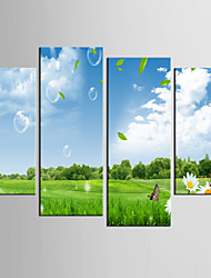 Photographic Print Landscape Modern Pastoral,Four Panels Canvas Any Shape Print Wall Decor For Home Decoration