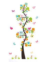 cheap -Wall Stickers Wall Decas Style Cartoon Owl Tree Branch PVC Wall Stickers