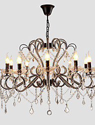 cheap -LightMyself 10 Lights Crystal Chandelier Modern/Contemporary Traditional/Classic Rustic/Lodge Vintage Retro Country Painting Feature for LED Metal