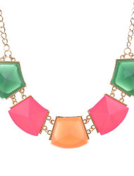 cheap -Women's Square Shape Geometric Unique Design Statement Necklace Crystal Statement Necklace Party Daily Casual