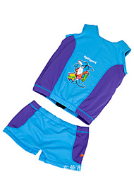 Life Jacket Waterproof Swimming LYCRA® Classic Cartoon Blue