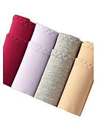 4Pcs/Lot Womens Sexy Seamless Panties Cotton Polyester Underwear Spandex Briefs