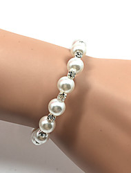 cheap -Women's Cuff Bracelet Tennis Bracelet Imitation Pearl Fashion Pearl Rhinestone Circle White Jewelry ForWedding Party Special Occasion