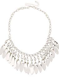 Mulheres Colares Declaração Jóias Forma Geométrica Original Pingente Estilo simples Multi-maneiras Wear Bijuterias Destaque Prata Jóias