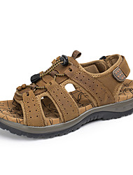 cheap -Men's Shoes Cowhide Spring Summer Comfort Sandals Upstream Shoes for Outdoor Dress Light Brown