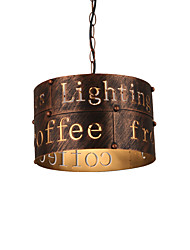 cheap -Max 60W Vintage Metal Loft Pendant Lights Living Room Dining Room Cafe Bars Clothing Store decoration Light Fixture