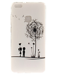cheap -For Huawei P8 Lite (2017) P10 Case Cover Dandelion Pattern HD Painted TPU Material IMD Process Phone Case P10 Lite Honor 6X Y5 II Y6 II