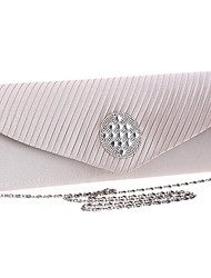 cheap -Women Bags Polyester Evening Bag Crystal/ Rhinestone for Wedding Event/Party Formal All Seasons Black Silver Red