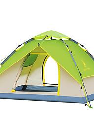 Недорогие -3-4 человека Световой тент Двойная Палатка Однокомнатная Автоматический тент Водонепроницаемость С защитой от ветра Ультрафиолетовая