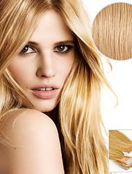 baratos -20pcs fita em extensões de cabelo de ouro 40g 16inch 20inch 100% cabelo humano para as mulheres