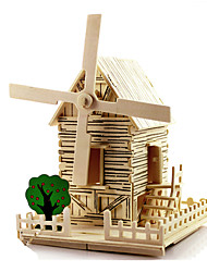 DIY KIT 3D Puzzles Windmill Toy Cars Toys Windmill Famous buildings House Architecture DIY Unisex Pieces