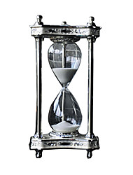 cheap -Moonlight Metal Hourglass 30 Minutes Timer Creative Ornaments Home Decorations Study Desk Desktop Crafts Gifts