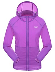 Women's Hiking T-shirt Waterproof Quick Dry Ultraviolet Resistant Front Zipper Breathable Lightweight Materials Sunscreen Ultraviolet
