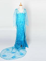 Teenage Cosplay Costume Kids Halloween Blue Princess Dress