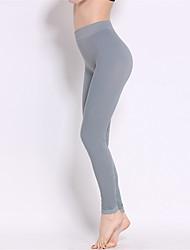 preiswerte -Yoga-Hose Strumpfhosen/Lange Radhose Leggins Unten Rasche Trocknung Atmungsaktiv Hoch Hochelastisch Sportbekleidung Damen Yoga Pilates