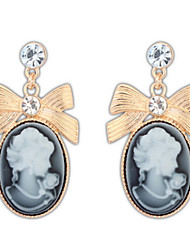 Women's Drop Earrings Jewelry Basic Unique Design Logo Style Dangling Style Pendant Rhinestones Geometric Friendship Luxury Durable