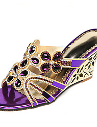 economico -Da donna-Sandali-Matrimonio Formale Casual Serata e festa-Innovativo Con cinghia Club Shoes Comoda-Piatto Zeppa-Microfibra-