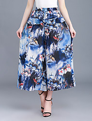 cheap -Women's High Rise Wide Leg Chinos Pants,Fashion Print Polyester Summer