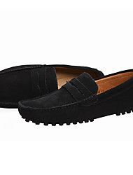 Недорогие -Муж. Официальная обувь Замша На каждый день Мокасины и Свитер Черный / Морской синий / Зеленый / на открытом воздухе / Офис и карьера / Comfort Loafers / EU40