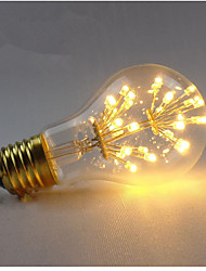 2W E27 LED Filament Bulbs A60(A19) 3 leds COB Dimmable Decorative Warm White 200-300lm 2300K AC 220-240V