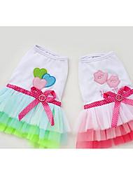 baratos -Cachorro Vestidos Roupas para Cães Formais Verde Rosa claro Algodão Ocasiões Especiais Para animais de estimação Homens Mulheres Fofo
