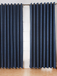 cheap -Rod Pocket Grommet Top Tab Top Double Pleat Two Panels Curtain Modern Living Room Linen/Polyester Blend Material Curtains Drapes Home