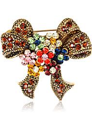 levne -Dámské Bowknot Shape Štras Brože - Euramerican / Módní Bowknot Shape Různé barvy Brož Pro Svatební / Párty / Zvláštní příležitosti