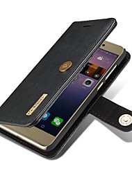 cheap -Case For Huawei Card Holder Wallet with Stand Flip Magnetic Full Body Cases Solid Color Hard Genuine Leather for P8 Lite (2017) Huawei