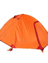 Недорогие -4 человека Световой тент На открытом воздухе Дожденепроницаемый Влагонепроницаемый Хорошая вентиляция Двухслойные зонты Палатка 2000-3000 mm для Пешеходный туризм Походы Путешествия