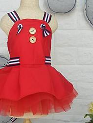 Cachorro Vestidos Roupas para Cães Fofo Casual Fashion Desenhos Animados Vermelho Ocasiões Especiais Para animais de estimação
