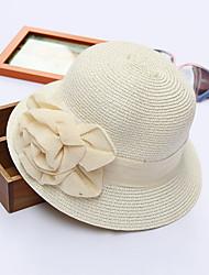 Недорогие -Для женщин Очаровательный На каждый день Панама Шляпа от солнца,Весна Лето Полиэстер Солома