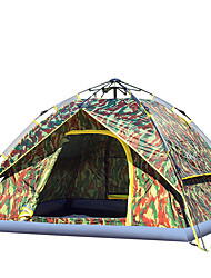 cheap -3-4 persons Tent Double Camping Tent One Room Automatic Tent Moistureproof/Moisture Permeability Waterproof Windproof Rain-Proof for