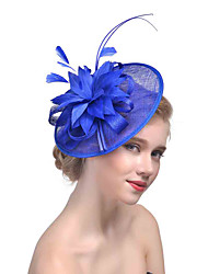 cheap -Tulle Feather Net Fascinators 1 Wedding Special Occasion Headpiece