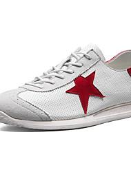 Недорогие -Муж. обувь Тюль Весна Лето Туфли Мери-Джейн Удобная обувь Кеды Беговая обувь Шнуровка для Атлетический Повседневные на открытом воздухе