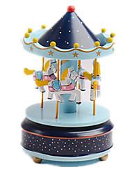 Недорогие -музыкальная шкатулка Карусель Веселый раунд Милый стиль пластик Универсальные Игрушки Подарок