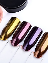 cheap -2g/box Nail Glitter Rose Gold Purple Mirror Chrome Powder Dust Shiny Magic Mirror Effect Nails Art Pigment DIY Nail Decorations