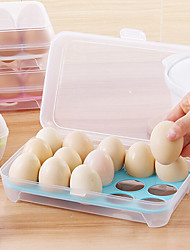 cheap -1Pcs  15 Blank Kitchen Refrigerator Eggs Storage Box Holder Preservation Box Portable Plastic Put Eggs Box Home Kitchen Storage Tools Random Color