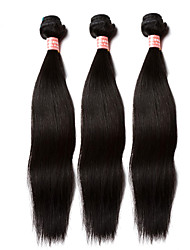 cheap -Indian Hair Straight / 360 Frontal One Pack Solution Human Hair Weaves Natural Black Human Hair Extensions