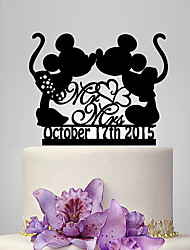 cheap -Cake Topper Classic Theme Fairytale Theme Funny & Reluctant Acrylic Wedding Anniversary Bridal Shower With OPP
