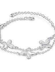 Dámské Řetězové & Ploché Náramky Šperky DIY bižuterie Postříbřené Circle Shape Bowknot Shape Šperky Pro Svatební Párty Zvláštní