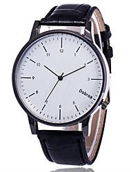 Муж. Модные часы Китайский Кварцевый Кожа Группа Elegant Черный Коричневый