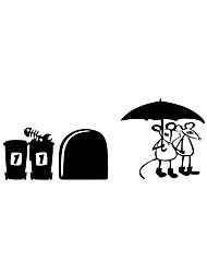 preiswerte -Wandaufkleber Wandabziehbilder Stil Maus rufen einen Regenschirm Pvc Wandaufkleber