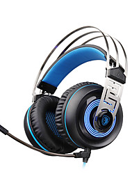 cheap -A7 Over Ear / Headband Wired Headphones Dynamic Plastic Gaming Earphone with Volume Control / with Microphone / Noise-isolating Headset